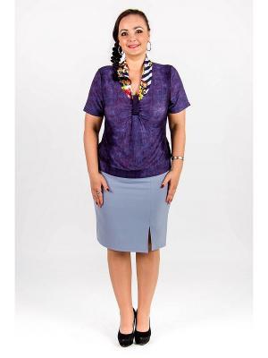 Блузка Lautus. Цвет: фиолетовый