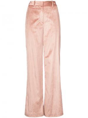 Широкие брюки Adam Lippes. Цвет: телесный
