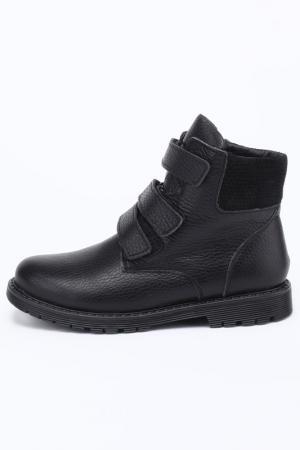 Ботинки школьные MURSU. Цвет: черный