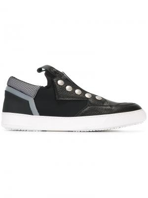 Stud detail slip-on sneakers Bruno Bordese. Цвет: чёрный