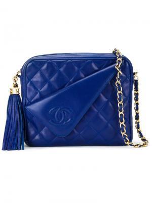 Сумка через плечо Chanel Vintage. Цвет: синий