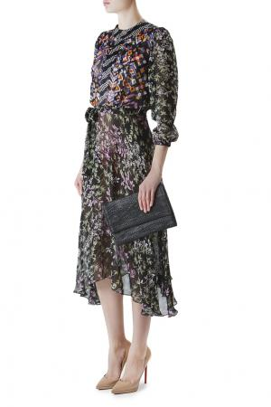 Платье из вискозы и шелка с принтом Duro Olowu. Цвет: multicolor