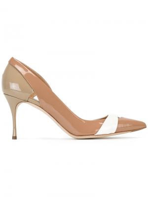 Туфли с вырезными деталями Sergio Rossi. Цвет: телесный