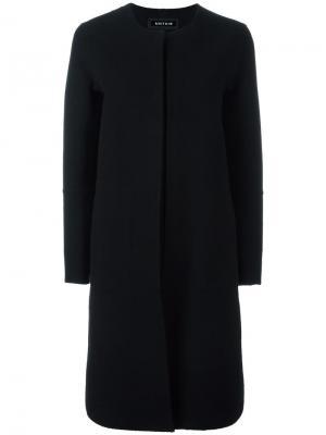 Однобортное пальто Ahirain. Цвет: чёрный
