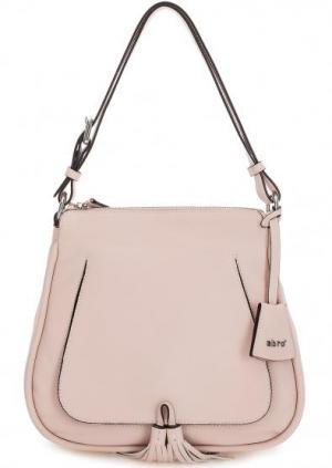 Розовая сумка из натуральной кожи с длинной ручкой Abro. Цвет: розовый