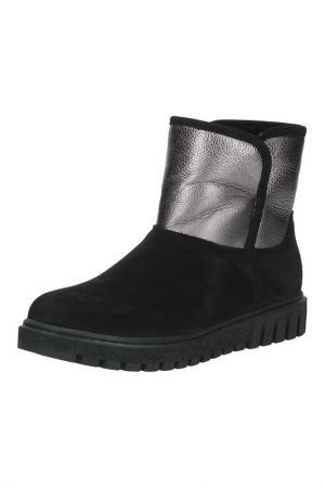 Ботинки Sandm. Цвет: черный, серебро