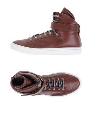 Высокие кеды и кроссовки GIULIANO FUJIWARA. Цвет: какао