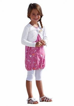 Комплект: платье + легинсы болеро CFL. Цвет: ярко-розовый