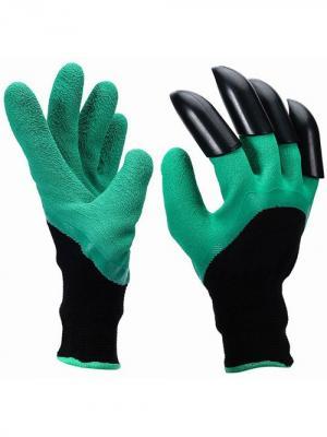Садовые перчатки с когтями для огорода Blonder Home. Цвет: зеленый