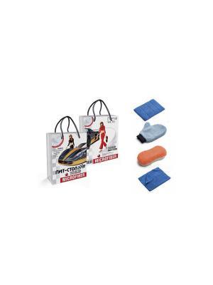 Набор для ухода за автомобилем ПИТ-СТОП - 4 предмета Elff Ceramics. Цвет: синий, оранжевый, белый
