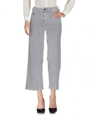 Повседневные брюки NOTIFY. Цвет: светло-серый