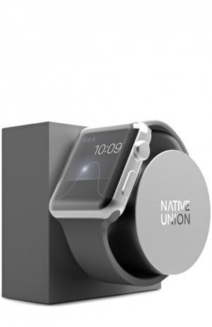 Подставка для часов Apple Watch Native Union. Цвет: серый