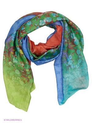 Платок Vita pelle. Цвет: синий, зеленый, оранжевый