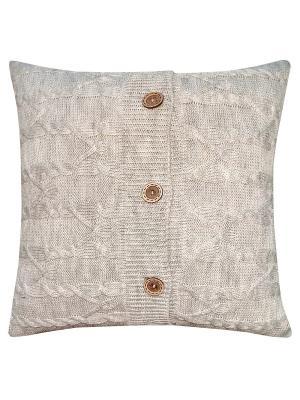 Вязаный чехол для подушки Эрида Altali. Цвет: серый