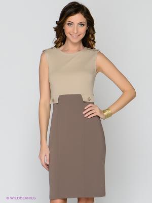 Платье T&M. Цвет: светло-коричневый, бежевый