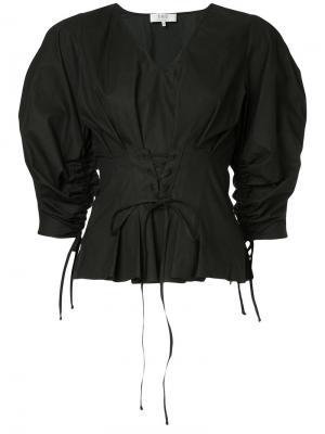 Блузка корсетного кроя Sea. Цвет: чёрный