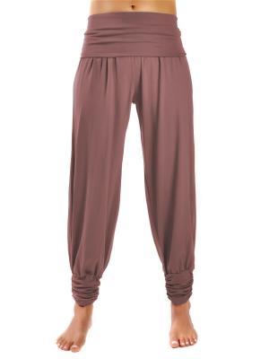 Штаны-гаремы длинные yogadress. Цвет: светло-коричневый