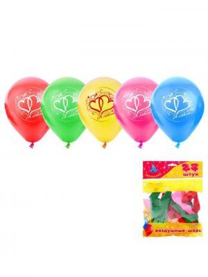 Набор воздушных шаров А М Дизайн. Цвет: светло-зеленый, желтый, красный