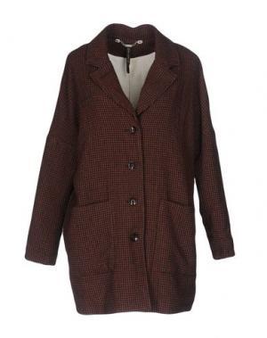 Пальто MANILA GRACE. Цвет: кирпично-красный