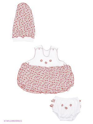 Комплект одежды Три ползунка. Цвет: красный