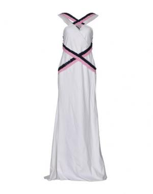 Длинное платье FRANCESCA PICCINI. Цвет: белый