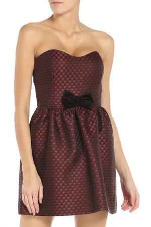 Платье RED Valentino. Цвет: черный, бордовый