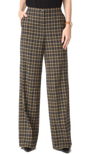 Клетчатые брюки с высокой талией Robert Rodriguez. Цвет: клетка