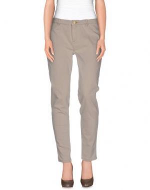 Джинсовые брюки MORGAN DE TOI. Цвет: светло-серый
