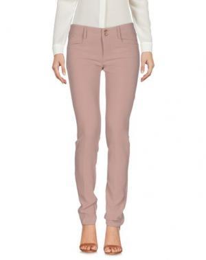 Повседневные брюки LIST. Цвет: светло-коричневый