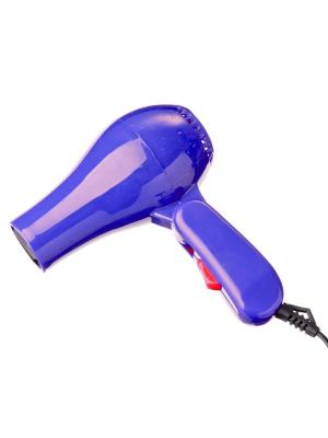 Фен дорожный 500вт/60гц/220в, пластик, 2 цвета LEBEN. Цвет: синий