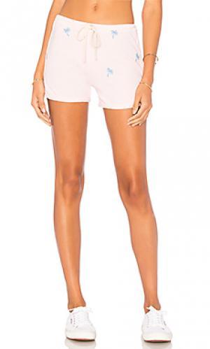 Пляжные шорты с пальмовым принтом SUNDRY. Цвет: розовый