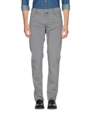 Повседневные брюки PT05. Цвет: серый