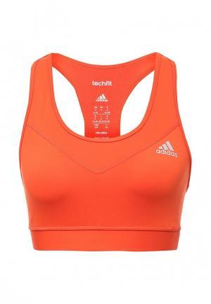 Топ спортивный adidas Performance. Цвет: оранжевый