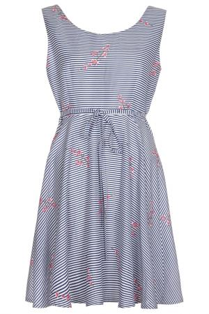 Платье Iska. Цвет: navy, white