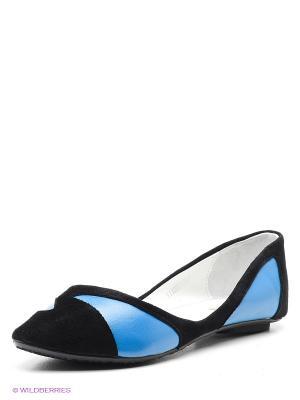 Балетки Vitacci. Цвет: синий, черный