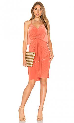 Платье миди domino MISA Los Angeles. Цвет: оранжевый