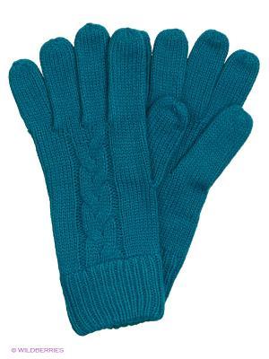 Перчатки Colin's. Цвет: бирюзовый
