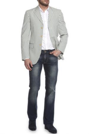 Пиджак Moschino. Цвет: белый, голубой, полоска