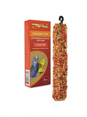 Лакомство для мелких и средних попугаев с кунжутом (уп. 3 шт) TRIOL. Цвет: оранжевый