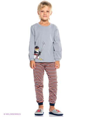 Пижама PELICAN. Цвет: серый, оранжевый