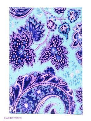 Обложка для автодокументов Голубой принт Mitya Veselkov. Цвет: бирюзовый, сиреневый, темно-синий