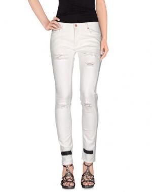 Джинсовые брюки OFF-WHITE™. Цвет: белый
