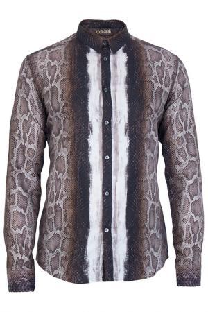 Рубашка Roberto Cavalli. Цвет: коричневый