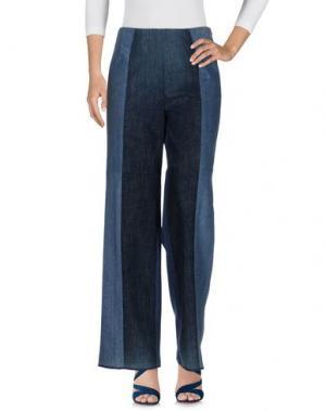 Джинсовые брюки SCHMIDTTAKAHASHI. Цвет: синий