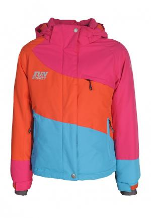 Куртка утепленная Fun Rocket. Цвет: разноцветный