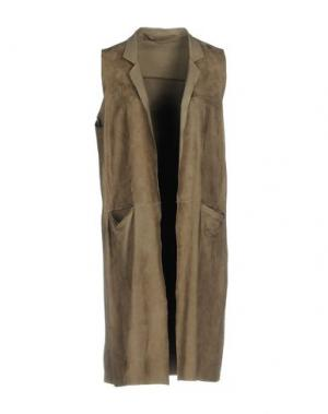 Легкое пальто SALVATORE SANTORO. Цвет: серый