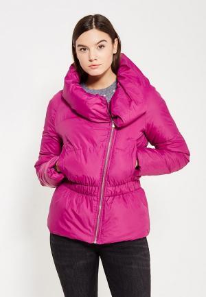 Куртка утепленная oodji. Цвет: фуксия