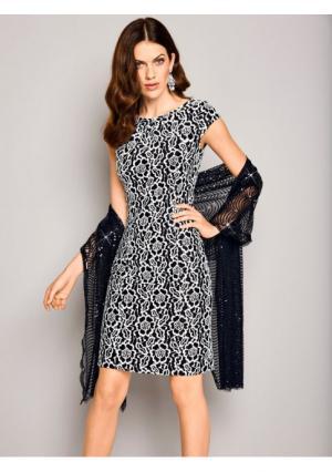 Платье Ashley Brooke. Цвет: черный/экрю