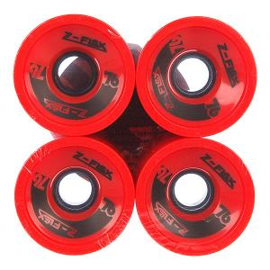 Колеса для скейтборда лонгборда  Longboard Wheels Red 78A 69 mm Z-Flex. Цвет: красный
