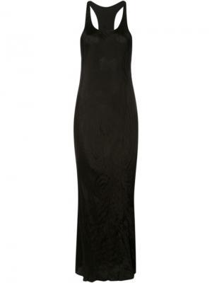Длинное платье без рукавов Uma Wang. Цвет: чёрный